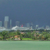 Miami Cruise Ships in Port During Storm